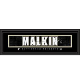 Framed Signature Nameplate Evgeni Malkin Pittsburgh Penguins