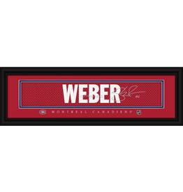 Framed Signature Nameplate Shea Weber Montreal Canadiens