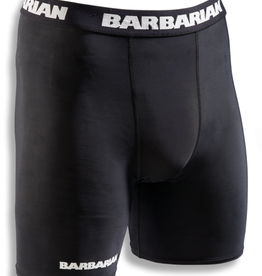 "Barbarian Men's Compression Short 5"" Black"