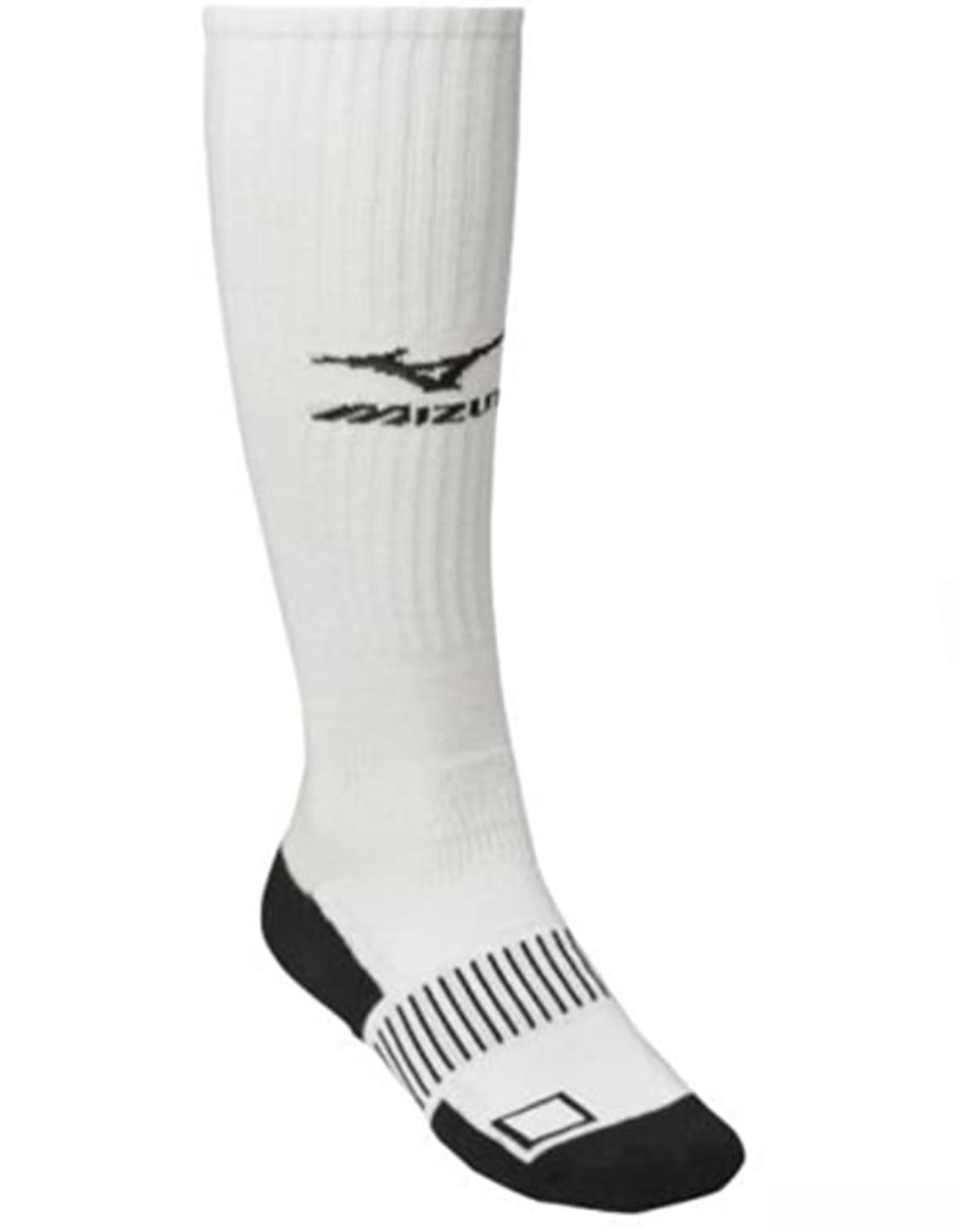 Mizuno Performance Plus Knee Hi Volleyball Sock White