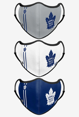 FOCO FOCO Adjustable Sport 3 Pack Face Cover Toronto Maple Leafs