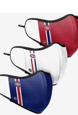 FOCO FOCO Adjustable Sport 3 Pack Face Cover Montreal Canadiens