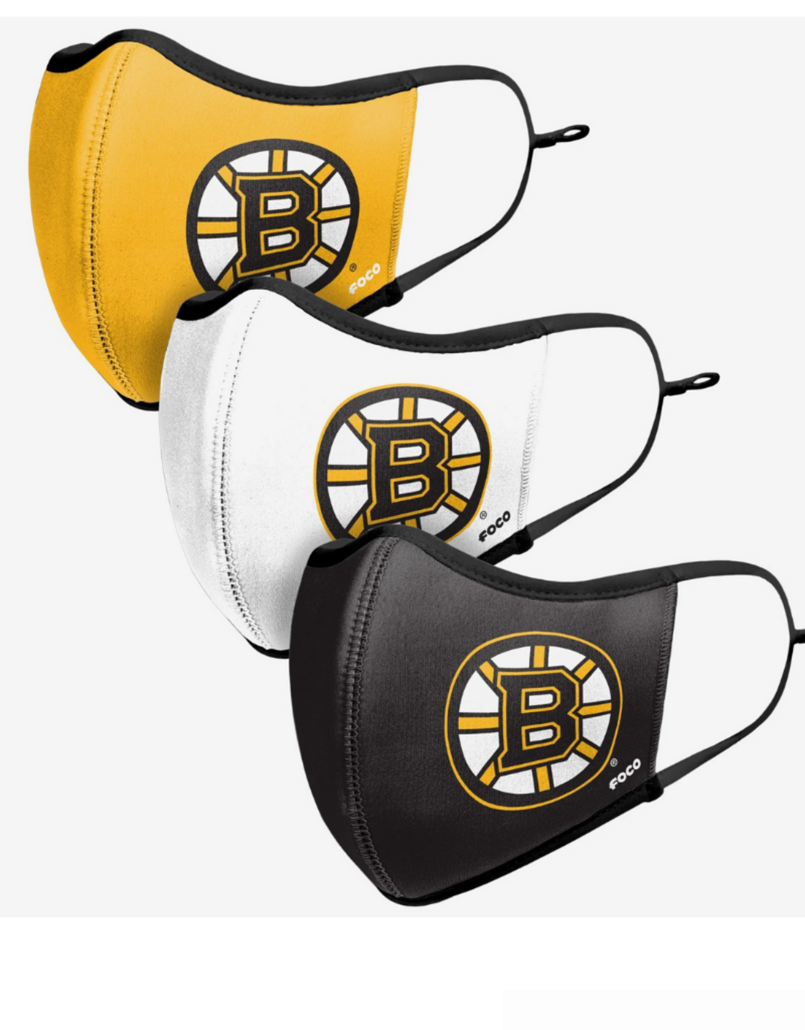 FOCO FOCO Adjustable Sport 3 Pack Face Cover Boston Bruins
