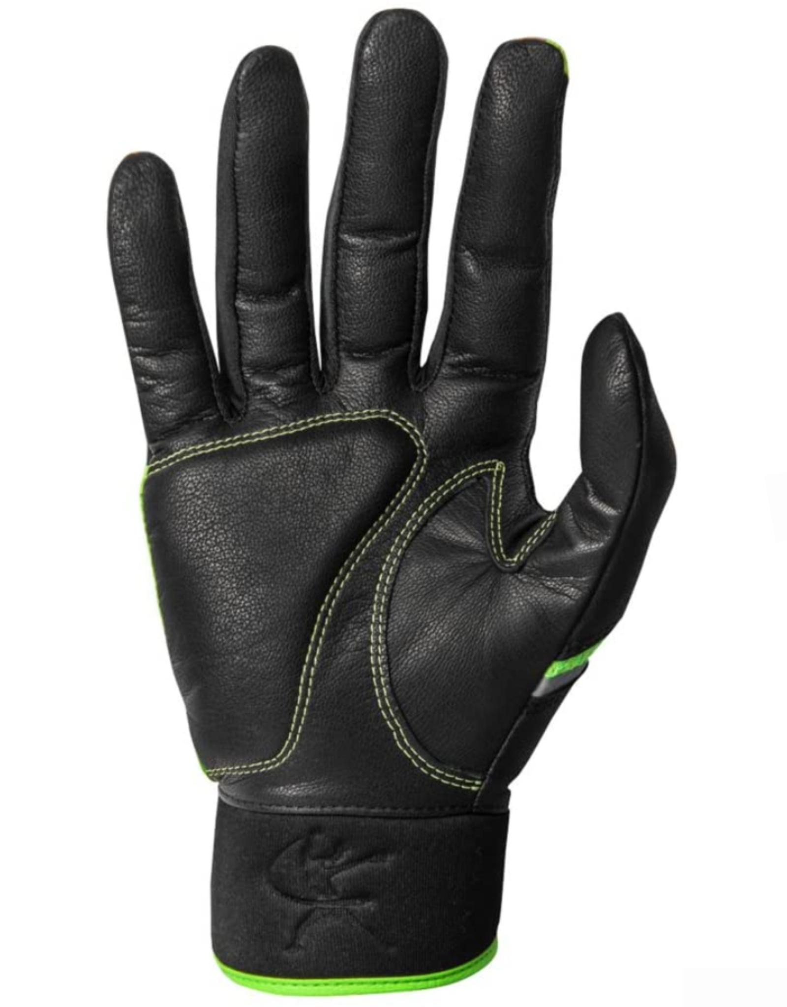 Mizuno Women's Finch Batting Glove Lime/Black