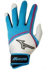 Mizuno Women's Finch Batting Glove Blue/White