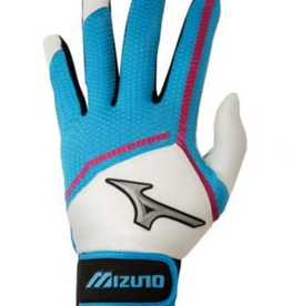 Mizuno Women's Finch Batting Glove Blue/White