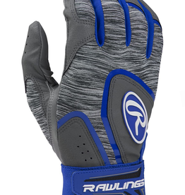 Rawlings Men's 5150 Batting Gloves Grey/Blue