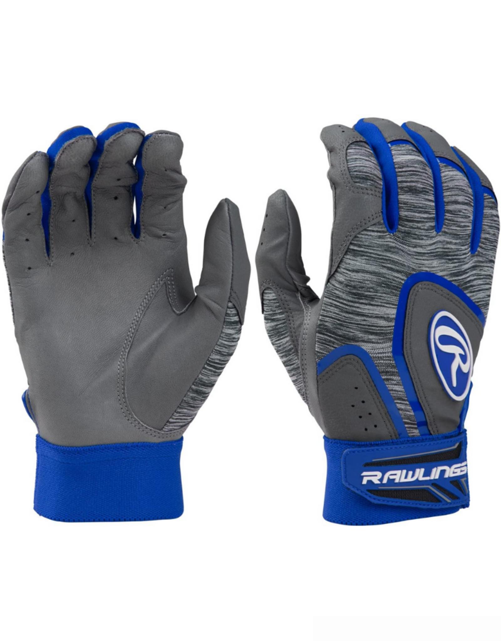 Rawlings Men's 5150 Batting Gloves Grey/Blue