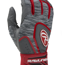 Rawlings Men's 5150 Batting Gloves Grey/Red