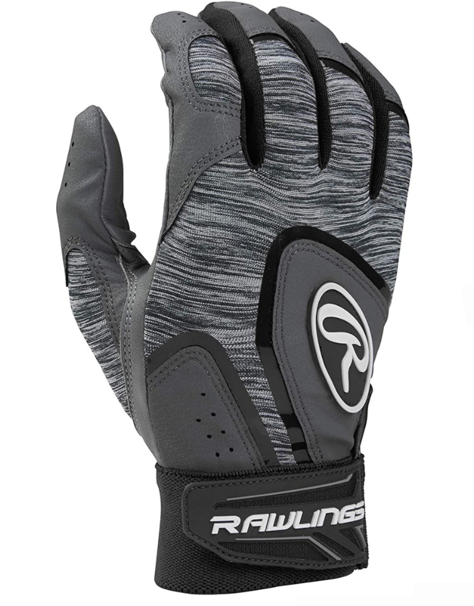 Rawlings Men's 5150 Batting Glove Grey/Black