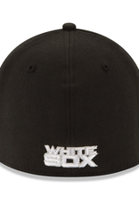 New Era Men's 39THIRTY Team Classic Stretch Hat Chicago White Sox Black