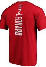 Fanatics Fanatics Men's Playmaker T-Shirt Leonard #2 Los Angeles Clippers Red
