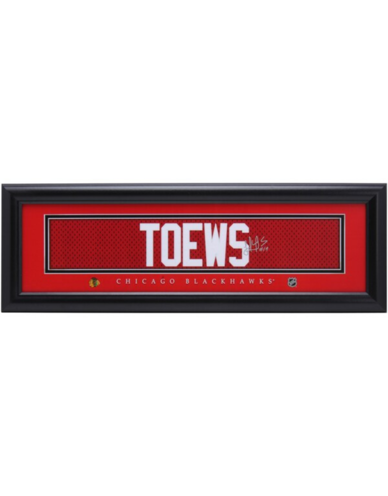 Framed Signature Nameplate Jonathan Toews Chicago Blackhawks