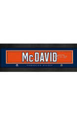 Framed Signature Nameplate Connor McDavid Edmonton Oilers