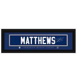 Framed Signature Nameplate Auston Matthews Toronto Maple Leafs