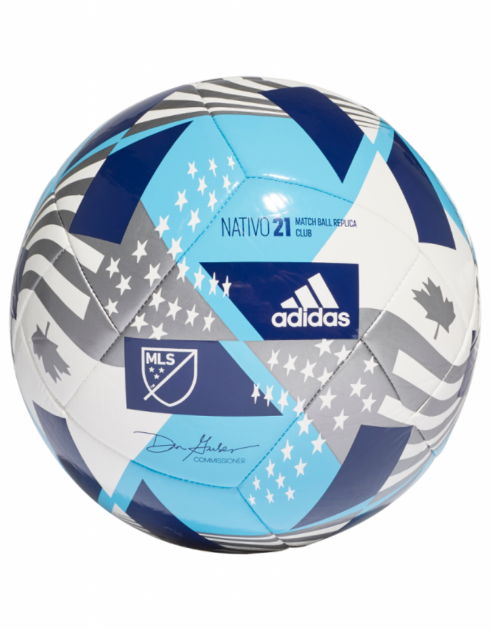 Adidas Adidas 2021 MLS Club Soccer Ball Size 5 Blue/White