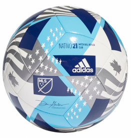 Adidas Adidas 2021 MLS Club Soccer Ball Size 5 Blue/White
