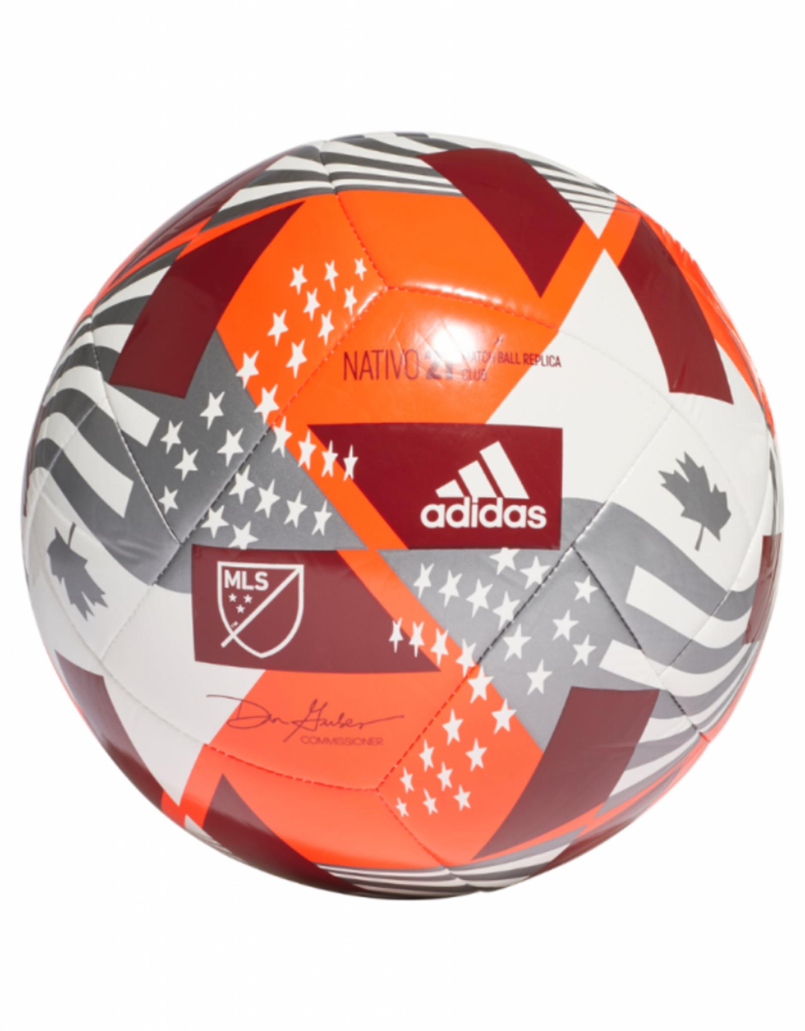 Adidas Adidas 2021 MLS Club Soccer Ball Size 5 Red/White