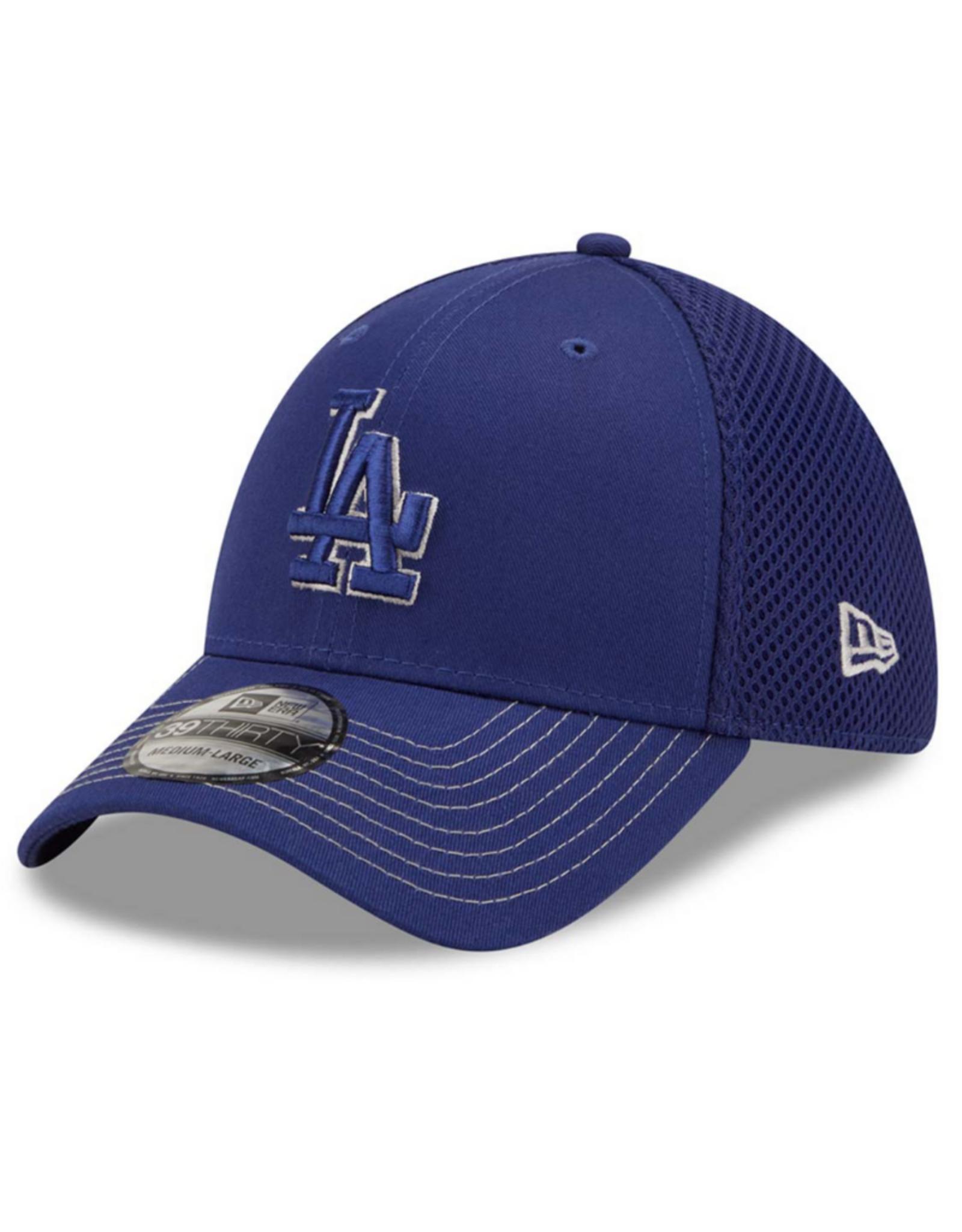 New Era Men's 39THIRTY Team Neo C1 Hat Los Angeles Dodgers Blue