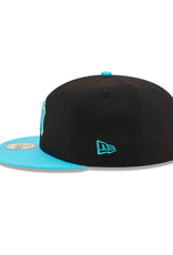 New Era Men's 2T Color Pack 59FIFTY Hat New York Yankees Black/Teal