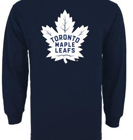 '47 Men`s Team Logo Long Sleeve Tee Toronto Maple Leafs Navy