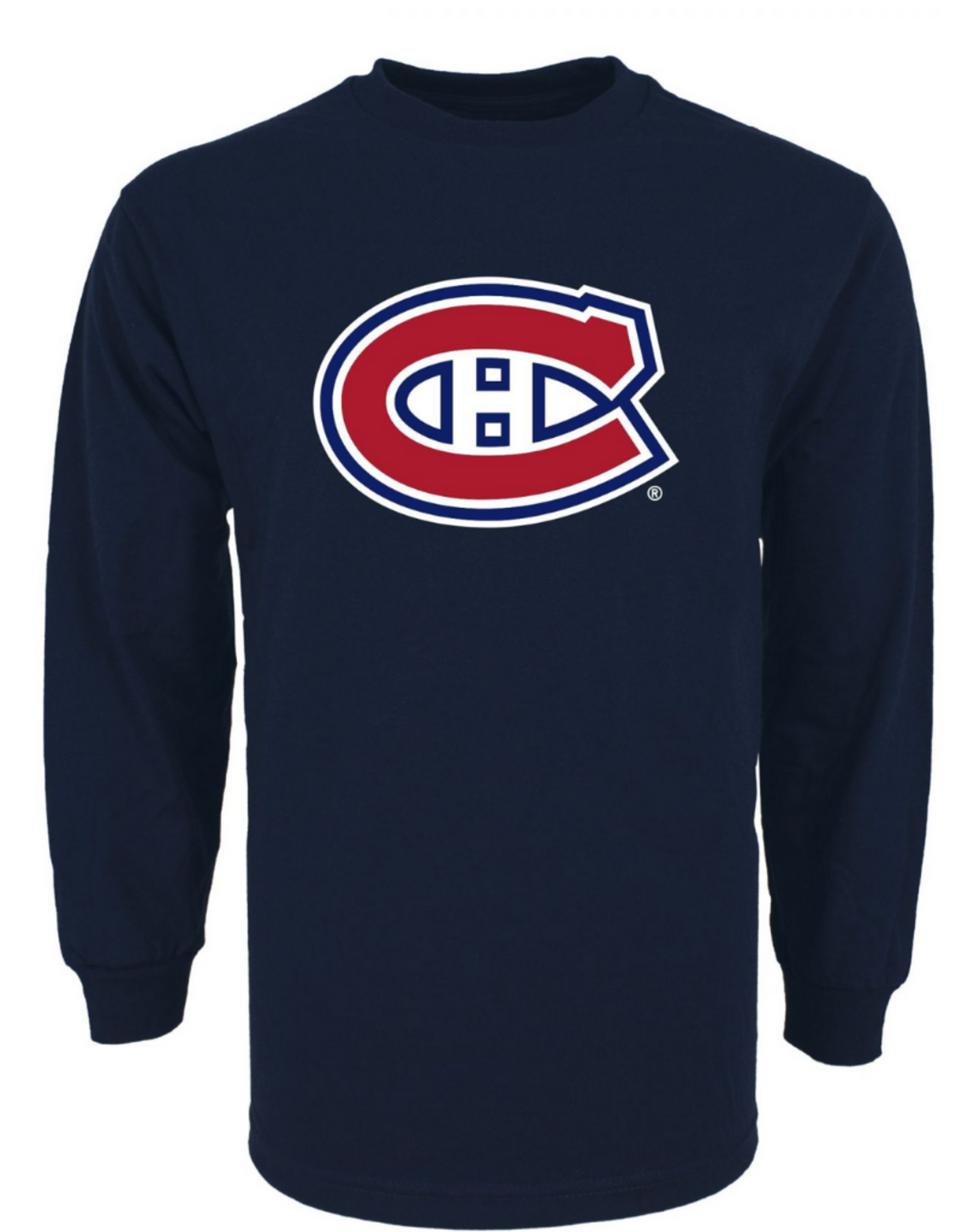 '47 Men`s Team Logo Long Sleeve Tee Montreal Canadiens Navy