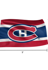NHL 3' x 5' Team Logo Flag Montreal Canadiens Red