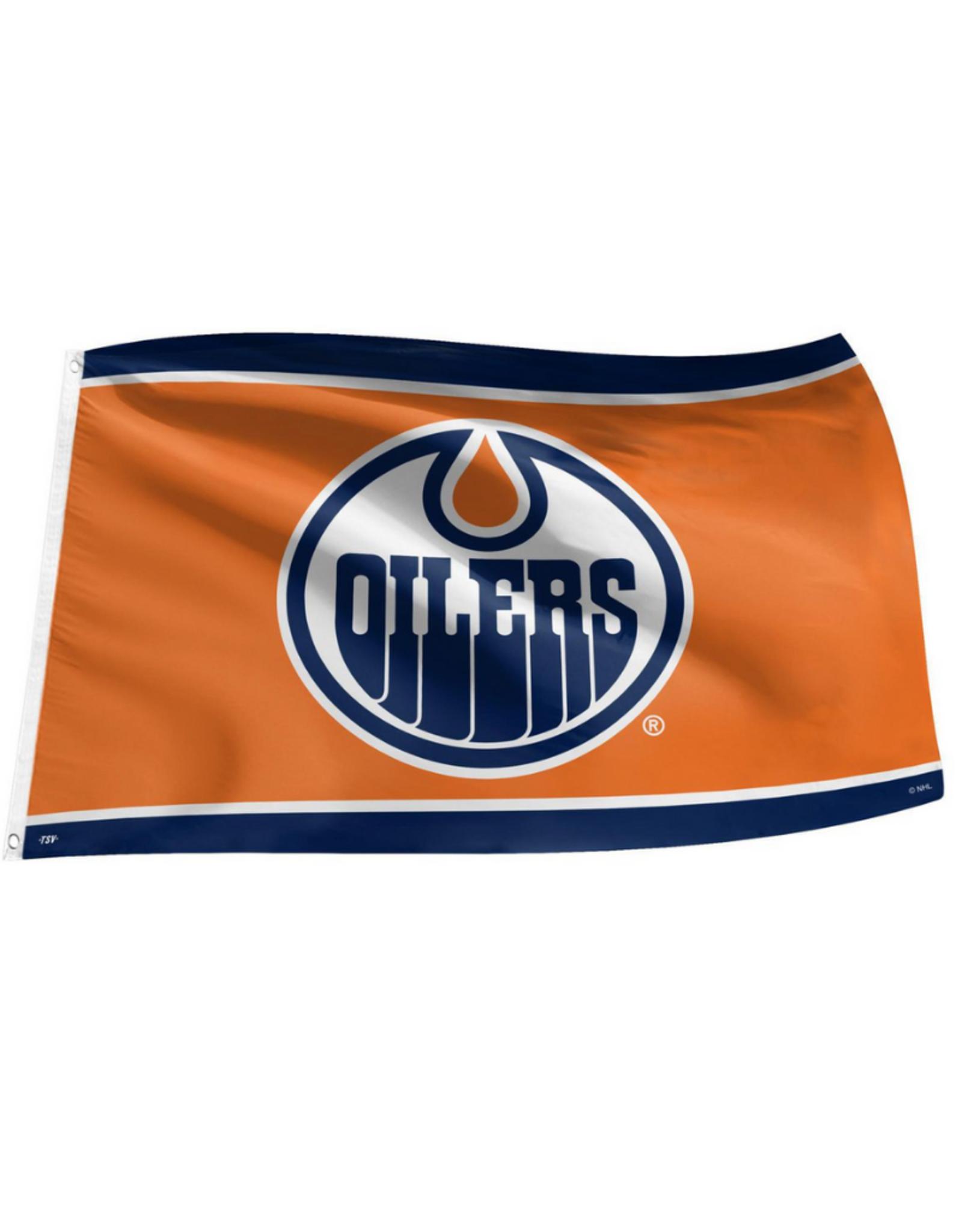 NHL 3' x 5' Team Logo Flag Edmonton Oilers Orange