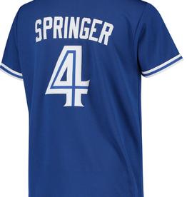 Nike Men's Replica Jersey Springer #4 Toronto Blue Jays Royal
