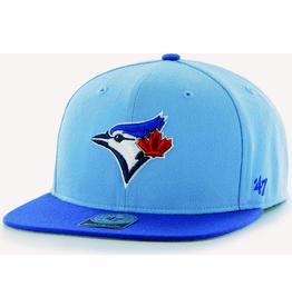MLB '47 No Shot Two Tone Captain Snapback Hat Blue Jays