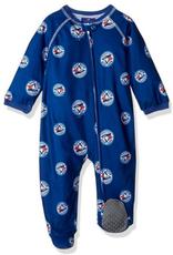 MLB Newborn Raglan Zip Up Coverall Onesie Toronto Blue Jays