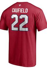Fanatics Fanatics Men's Player T-Shirt Caufield #22 Montreal Canadiens Red