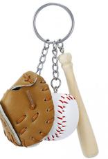 The Sports Vault Bat Ball Glove Key Ring New York Yankees