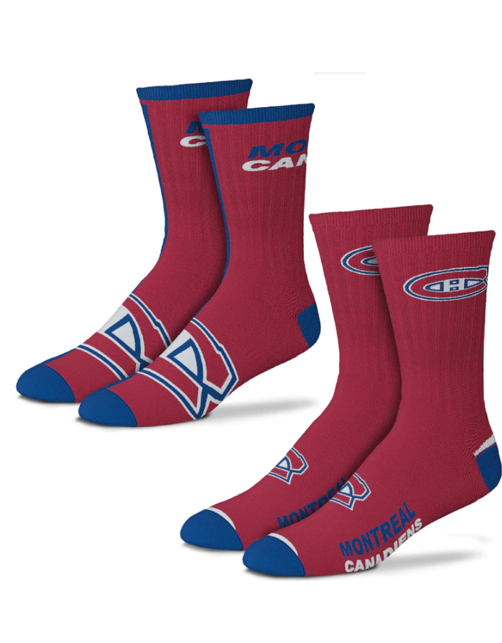 FBF Adult Socks 2 Pack Montreal Canadiens