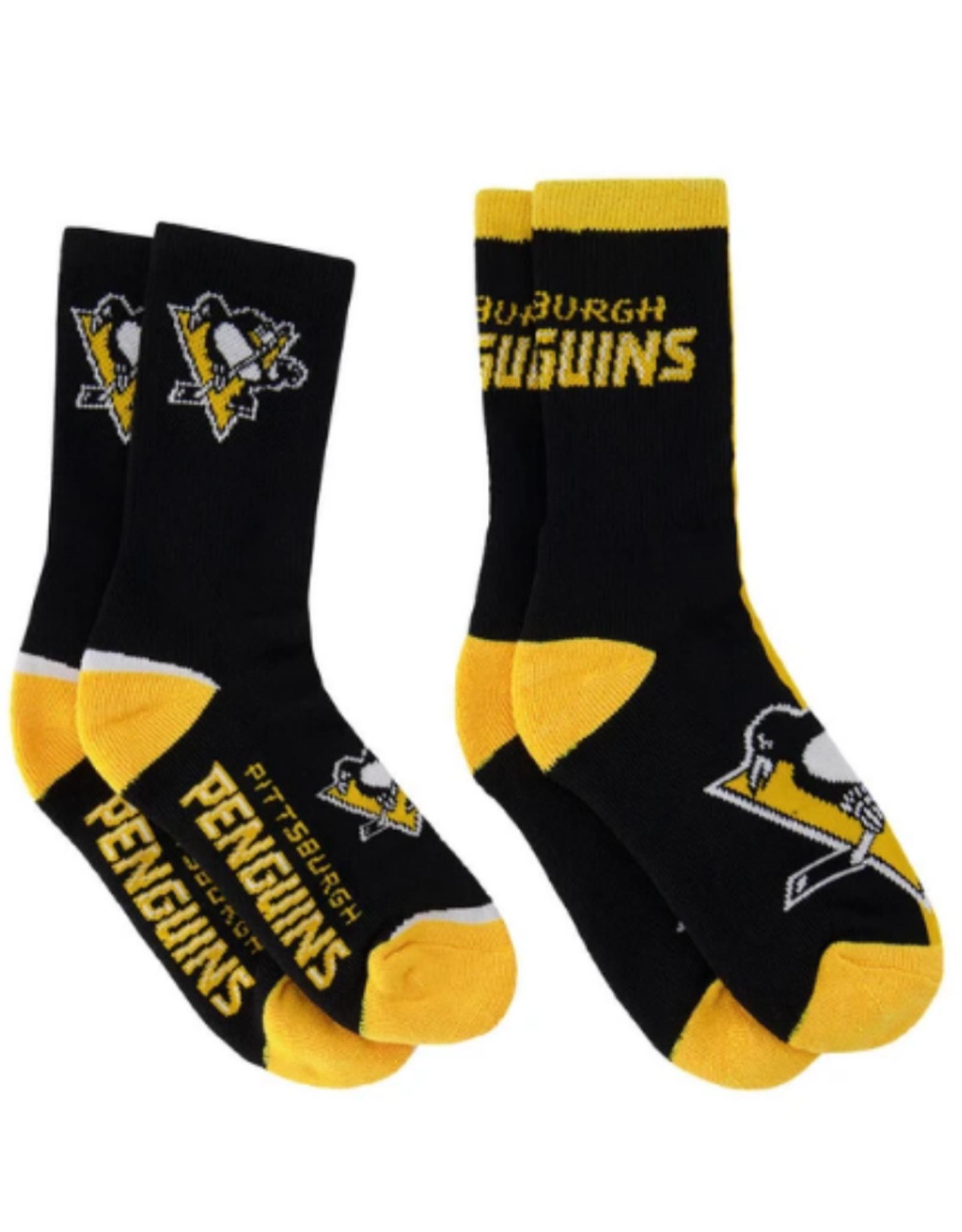 FBF Adult Socks 2 Pack Pittsburgh Penguins L