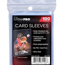 Ultra Pro Card Sleeves 2 5/8 X 3 5/8 100pk