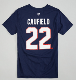 Fanatics Fanatics Men's Player T-Shirt Cole Caufield #22 Canadiens Navy