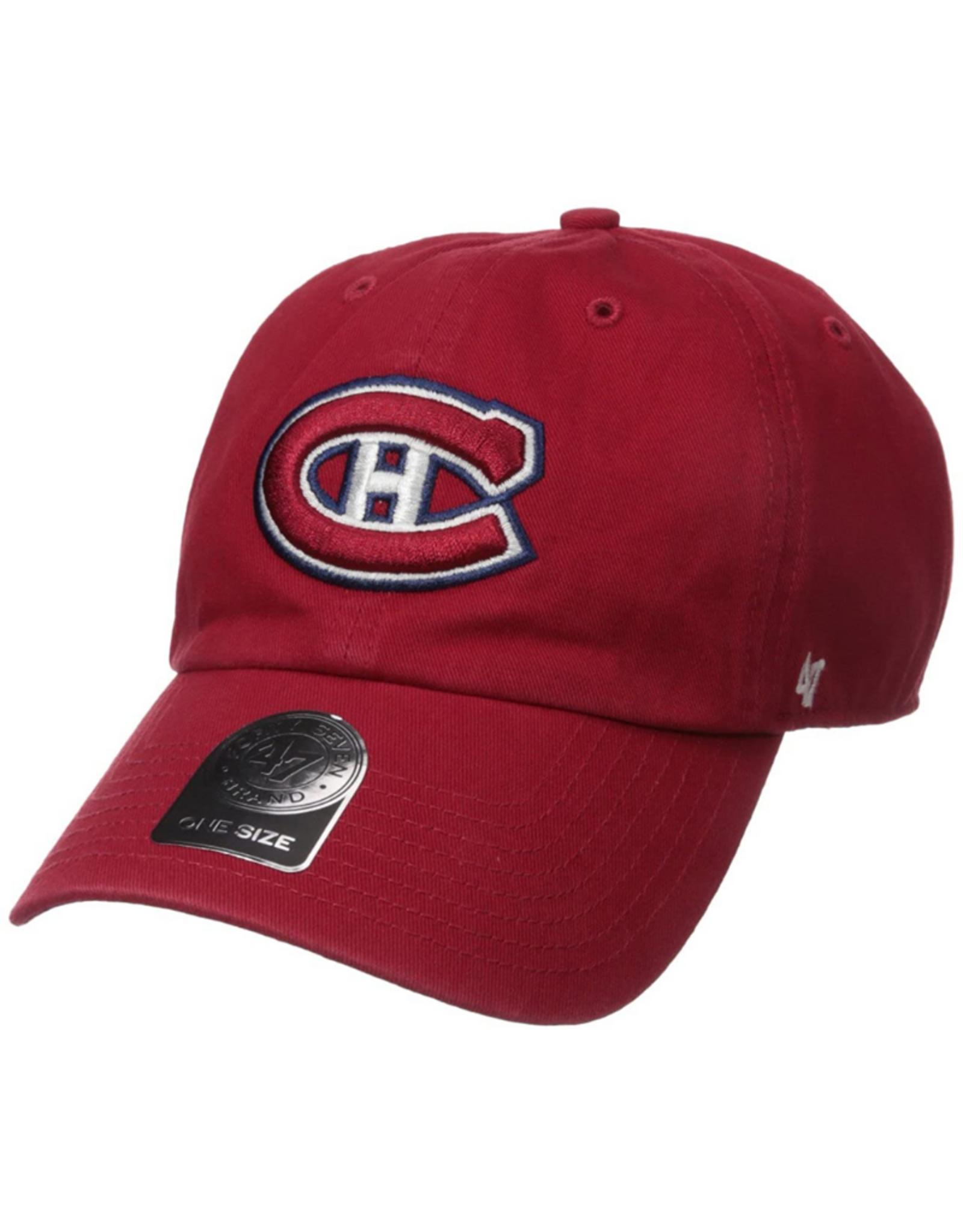 '47 Men's Clean Up Adjustable Hat Montreal Canadiens Red
