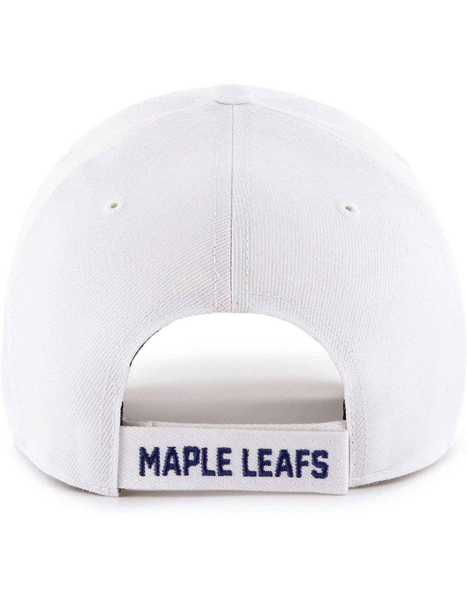 '47 Men's MVP Primary Logo Adjustable Hat Toronto Maple Leafs White