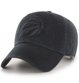 '47 Men's Clean Up Adjustable Hat Toronto Raptors Black/Black