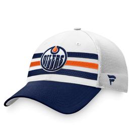 Fanatics Fanatics Men's '21 Draft Hat Adjustable Edmonton Oilers White