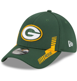 New Era Men's '21 39THIRTY Sideline Home Hat Green Bay Packers Green