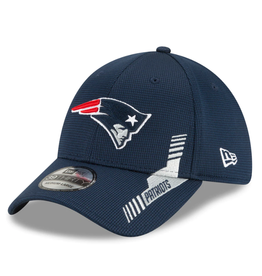 New Era Men's '21 39Thirty Sideline Home Hat New England Patriots Navy