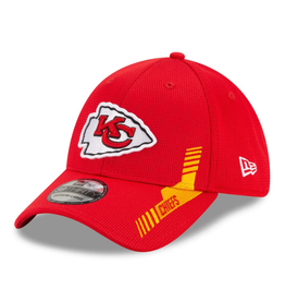 New Era Men's '21 39THIRTY Sideline Home Hat Kansas City Chiefs Red