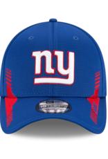 New Era Men's '21 39THIRTY Sideline Home Hat New York Giants Blue