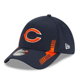 New Era Men's '21 39THIRTY Sideline Home Hat Chicago Bears Navy