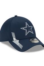 New Era Men's '21 39THIRTY Sideline Home Hat Dallas Cowboys Navy