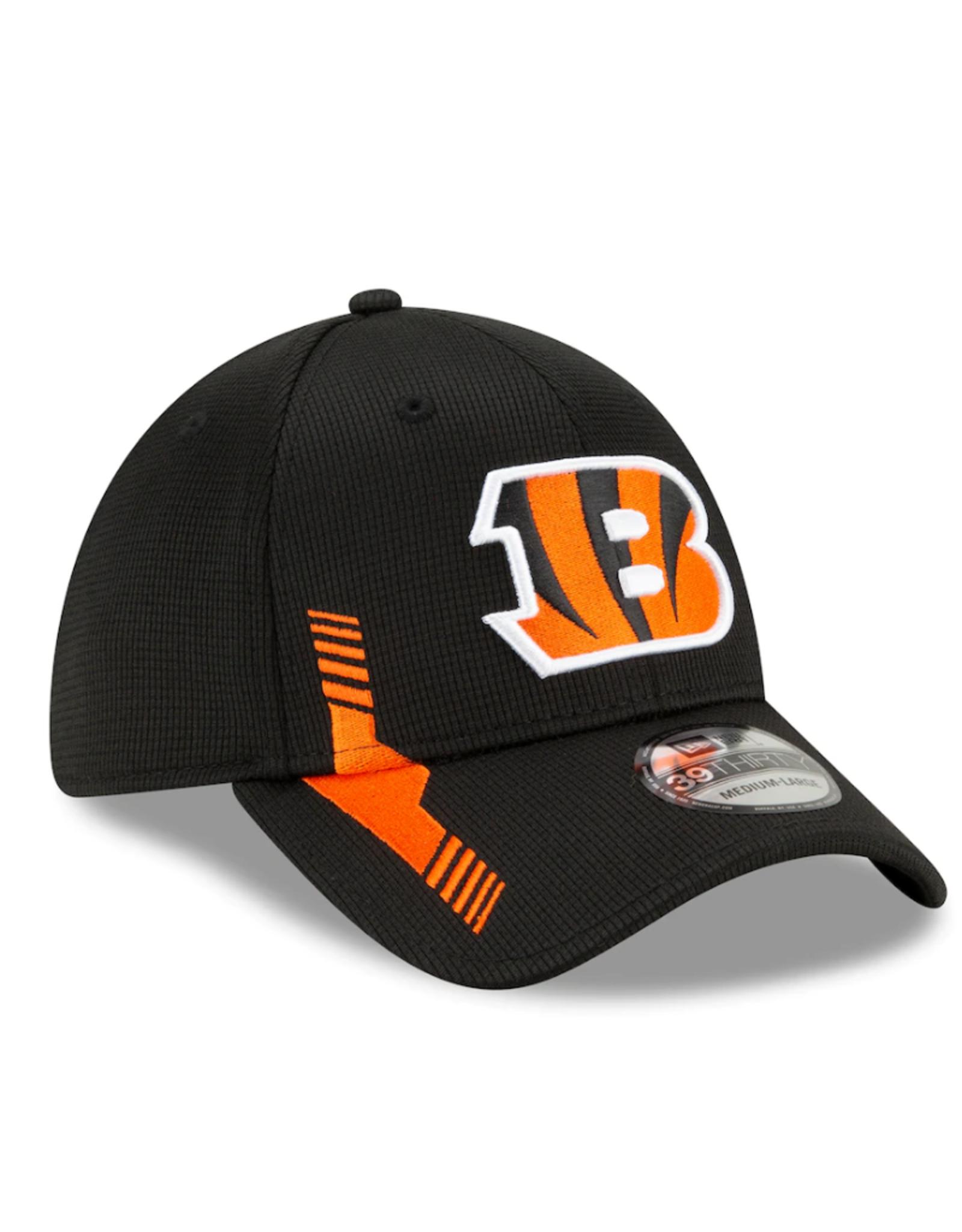 New Era Men's '21 39THIRTY Sideline Home Hat Cincinnati Bengals Black