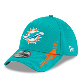 New Era Men's '21 39THIRTY Sideline Home Hat Miami Dolphins Teal