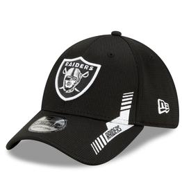 New Era Men's '21 39THIRTY Sideline Home Hat Las Vegas Raiders Black